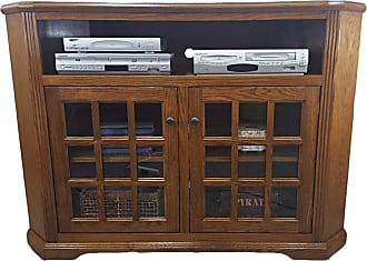 American Heartland 57 in. Oak Curve TV Stand - Assorted Finishes - 98743LTGPQS