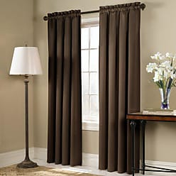 United Curtain Blackstone Blackout Window Curtain Panel, 54 by 84-Inch, Chocolate