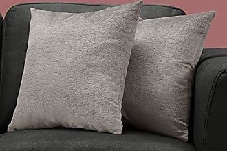 Monarch Specialties I I 9273 Mosaic Velvet Decorative Pillow Throw, 18x 18, Grey