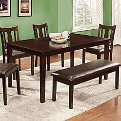FURNITURE OF AMERICA 24/7 Shop at Home 247SHOPATHOME IDF-3402T-6PK Dining-Room-Sets, 6-Piece, Espresso