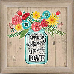 Trendy Decor 4 U Home Filled with Love By Deb Strain, Printed Wall Art, Ready To Hang Framed Poster, Beige Frame