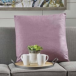 Christopher Knight Home 301600 Soyala Soft Smooth Fabric Throw Pillow (Light Lavender)