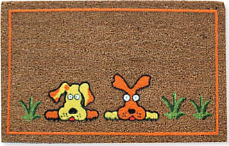 First Impression Flocked Dogs Entryway Outdoor Doormat - PTF1004