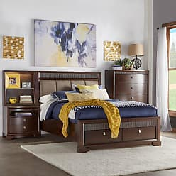 Weston Home Upholstered Headboard Storage Panel Bed, Size: Queen,King - 68313BQ-1[BD]