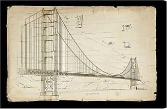 Hatcher & Ethan Hatcher and Ethan Golden Gate Bridge 1933 Canvas Wall Art - HE12613_60X40_CANV_XXHD_HE