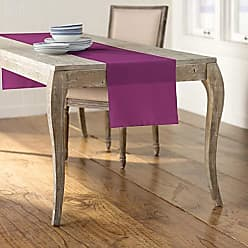 LA Linen Polyester Poplin Table Runner 14 by 108-Inch, Magenta, P81