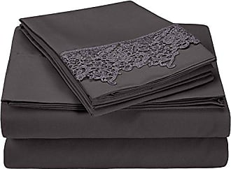 Superior 100% Brushed Microfiber Wrinkle Resistant Twin Sheet Set, 3-Piece, Charcoal