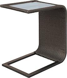 DARLEE Outdoor Darlee Vienna Wicker Slider Table with Glass Overlay - 10-HS