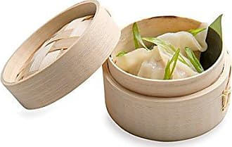 Restaurantware Bamboo Steamer - Mini Bamboo Steamer, Dim Sum Steamer - 3 Inches - Eco-Friendly, Biodegradable - 2 oz - 100ct Box - Restaurantware
