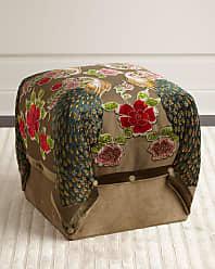 Haute House Home Peacock Cube Ottoman