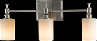 Feiss VS16103-BS Sullivan Vanity Strip in Brushed Steel finish with White Opal Glass