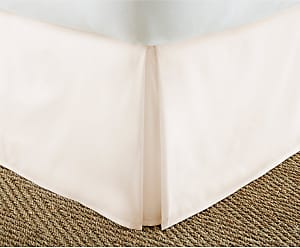 Noble Linens Luxury Solid Pleated Bed Skirt by Noble Linens Light Gray, Size: Twin XL - NL-BEDSKIRT-TWINXL-LGRAY
