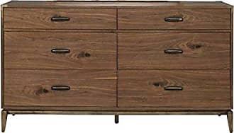 Modus Furniture 8N1682 Adler Six-Drawer Dresser, Natural Walnut