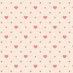 Lar Adesivos Papel de Parede Infantil Coração Menina Corações N4056