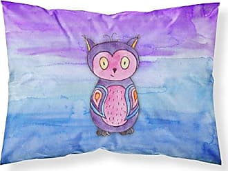 Carolines Treasures Blue Owl Watercolor Pillowcase Standard Multicolor
