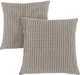 Monarch Specialties Abstract Dot 18 x 18 Light/Dark Brown 2 Piece Pillow