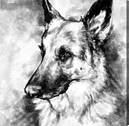 Hatcher & Ethan Hatcher and Ethan German Shepherd Canvas Art - HE15157_43X43_CANV_XXHD_AR