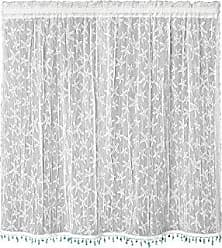 Heritage Lace Starfish Tier with Trim, 45 by 36-Inch, White