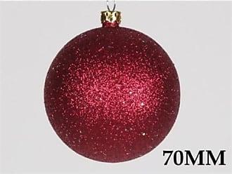 Queens of Christmas WL-ORN-BLKG-70-BU-W WL-ORN-BLKG-70-BU-W - 70mm Glitter Burgandy ball ornament w/wire