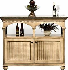 Eagle Furniture American Premiere Customizable Large Kitchen Island - Ball Foot Butcher Block Top - 15145WPSB