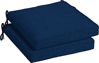 Overstock Arden Selections Sapphire Leala Outdoor Seat Cushion 2-Pack (Blue - Polyester - Hand Wash)