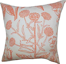 The Pillow Collection Neola Floral Bedding Sham Orange King/20 x 36