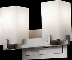 Feiss VS18402-BS Riva Vanity Strip in Brushed Steel finish with Opal Etch Glass