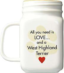 Pavilion Gift Company West Highland Terrier Mason Jar Mug, 21 oz, Multicolored
