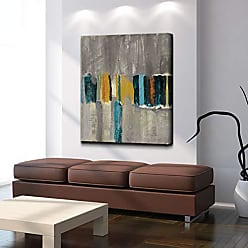 Ready2HangArt Smash VII Modern Abstract Canvas Wall Art Print, 40 x 30, Grey