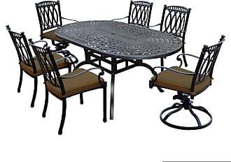 Oakland Living Outdoor Oakland Living Morocco Aluminum 7 Piece Patio Dining Set Light Brown - 7214T-7215C4-7216S2-D56-13-AB