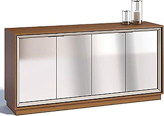 Imcal Buffet Ópera 4 Portas com Espelho Off White/Freijó - Imcal