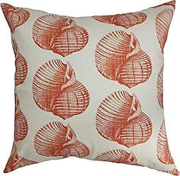 The Pillow Collection Bahari Aquatic Bedding Sham Persimmon European/26 x 26