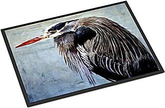 24H X 36W Carolines Treasures 8652JMAT Blue Heron ndoor or Outdoor Mat 24x36 Doormat Multicolor