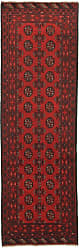 Nain Trading Oriental Rug Afghan Akhche 81x25 Runner Dark Brown/Rust (Wool, Afghanistan, Hand-Knotted)