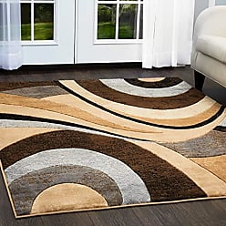 Home Dynamix HD5382-540 Tribeca Slade Modern Area Rug, 3 Piece Set, Brown/Gray