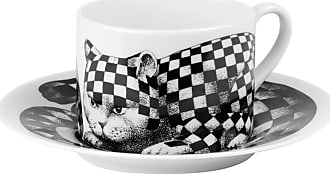 Fornasetti High Fidelity Teacup & Saucer - Quadretato