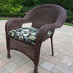 Oakland Living Outdoor Oakland Living All-Weather Wicker Arm Chair - 90030-C-BF-CF