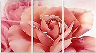 Stupell Industries Stupell Home Décor Fresh Pink Roses 3-Piece Triptych Wall Plaque Set, 11 x 0.5 x 17, Proudly Made in USA