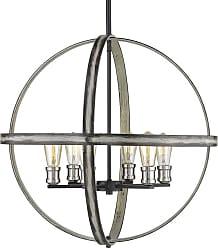 Z-Lite 472B26 Kirkland 6 Light 26 Wide Globe Chandelier Rustic