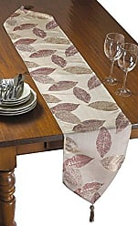Violet Linen Milano Arts Collection Decorative Table Runner, 13 x 70, Pink