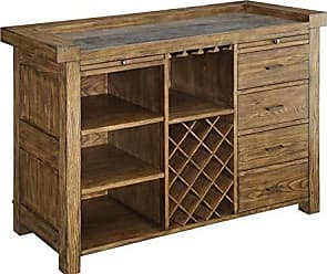 Coaster 106986-CO Willowbrook Bar Cabinet with Wine Storage, Chinese Ash