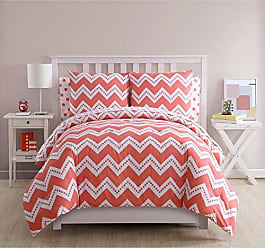 VCNY Home VCNY Home Leigh Chevron 7 Piece Bed-in-A-Bag Comforter Set, Full, Pink