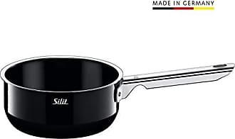 ohne Deckel 16 cm Silit Piedra Stielkasserolle Topf Induktion Silitstahl Funktionskeramik schwarz Kochtopf 1,3l