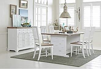 Progressive Furniture D884-10 Dining Table, Light Oak/Distressed White