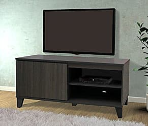 Kings Brand Furniture Oak Grey TV Stand Entertainment Center Storage Console Cabinet