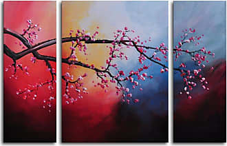 Omax Decor Cotton Candy Sky Blossom 3-Piece Canvas Wall Art - 48W x 32H in. - M 2018