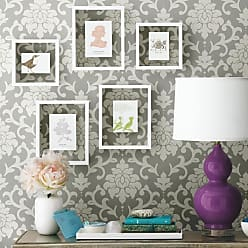 RoomMates Damask Peel and Stick Wallpaper Black - RMK9114WP