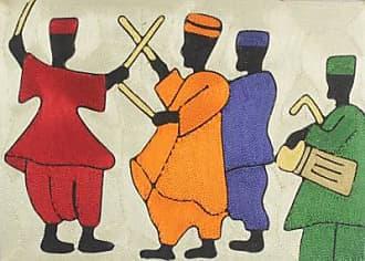 Novica Silk thread wall art, The Northern Dance III