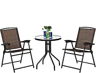 Costway 3 pcs Bistro Patio Garden Furniture Set