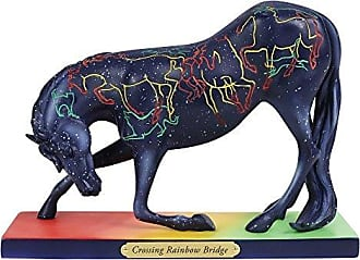 Enesco Trail of Painted Ponies Crossing Rainbow Bridge, 5 Stone Resin Figurine, 5, Multicolor